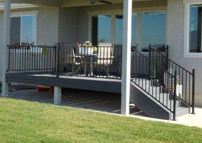 Composite Deck w/ Iron Railing – Springville, UT