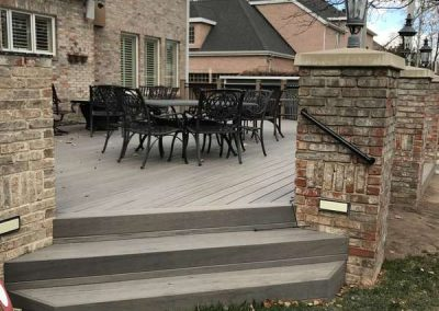 Composite Deck w/ Brick & Iron – Murray, UT